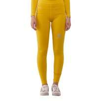 Tiento Baselayer Legging Rashguard Compression Tight Long Pants Yellow Silver Original