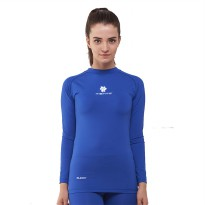 Tiento Baselayer Manset Rashguard Compression Long Sleeve Blue White Original