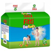 3 PACK Fitti DayPants Mega Pack Carton L48 Popok Bayi