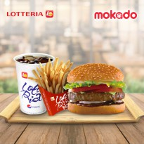 BB Burger Set [Big and Best] Burger + 1 cola + 1 French Fries / LOTTERIA