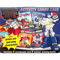 [Xivan] Transformers Rescue Bots Activity Carry Case (2 storybooks and 2 sticker activity books)