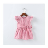 Ribbon Stripe Dress - Red