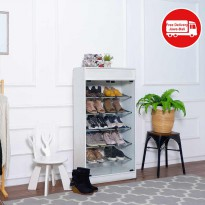 RORA SHOES RACK 5T WITH GLASS DOORS
