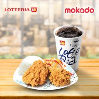[LOTTERIA] Chicken Ria Set A (2 ayam+nasi+salad+minum)