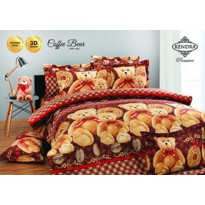 Bedcover Kendra size 120 x 200 (no.3) motif Coffee Bear