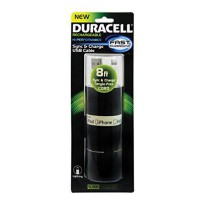 [poledit] ESI Duracell Standard USB to Lightning Sync and Charge Flat Cable 8` (White)/12597008