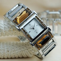 Guess Lux Silver Cover White