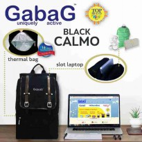 Gabag Calmo Black- Stylish Cooler Bag Tas Simpan Asi Free 2 Ice Gel