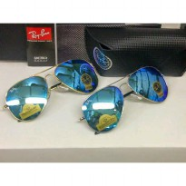 Kacamata Sunglass Rayban Aviator Diamond Hard Light Blue Series