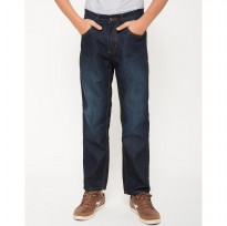 Nevada Boys' Straight Fit Denim - Dark Blue Size: 13-14