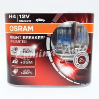 Osram NBR Unlimited H4 60/55 Watt - Lampu Halogen Mobil Terang +110% / NightBreaker / Night Breaker