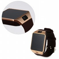Jam Tangan Pintar DZ09 / Bluetooth Smart Watches Gsm Sim Card For Android Phone (Gold) -AC256