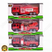 Koleksi Mainan Die Cast Pull Back Scale Ages 3+ - Construction dan fire truck 6 pilihan