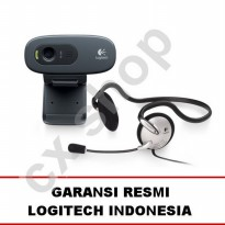 [Best Seller] Logitech C270H HD Webcam + Stereo Headset