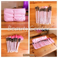 [Recommended] Kuas Set Make Up For You Pink / 24pcs / Brush Set / Dompet