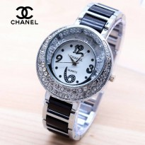 Chanel Sabit Silver Black