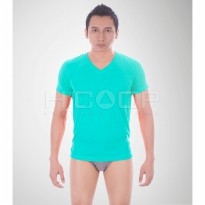 HICOOP MEN UNDERSHIRT OBLONG V-NECK COLOR SERIES HL-07 TOSCA