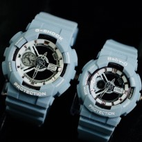 G Shock Sepasang Ga 110 Denim Light Blue