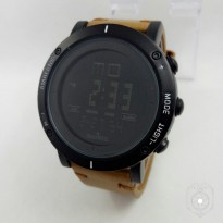 Jam Tangan Pria Suunto Kulit Digital Ligth Brown Black