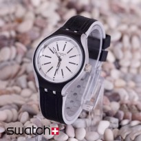 Swatch Rubber Black Cover White
