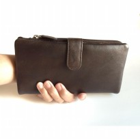 Dompet Wanita RFID Blocking Kulit Asli Import USA (Walnut)