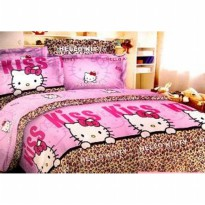 Jaxine Sprei Katun motif hello kitty Uk.160x200x2cm Queen