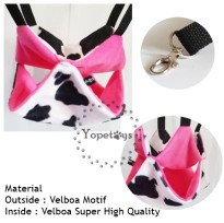 Yopetoys Double Sleeping Pouch Sugar Glider Pink Cow Aksesoris Sugar Glider Sleeping Pouch SG