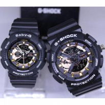 G Shock Ga 110 Sepasang Anti Air Black Cover Rosegold
