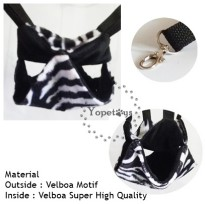 Yopetoys Double Sleeping Pouch Sugar Glider Hitam Zebra Aksesoris Sugar Glider Sleeping Pouch SG