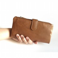 Dompet Wanita Kulit Asli RFID Blocking Import USA (Antique Saddle)