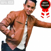 Jaket Kulit Pria, Varsity Series, Brown Country, Sintetis Faux Leather, Silverstone RFLA