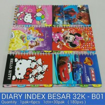 BUKU RING INDEX DISNEY BESAR 7032 (32K-B01)