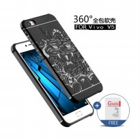[1+1] Cocose Case Dragon Original Back Cover Case for VIVO V5 / Y67 + Tempered Glass