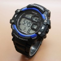 Jam Tangan Pria Fortuner Digital Ori Anti Air Black Blue
