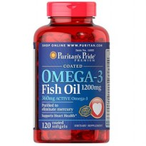 Puritan Pride Omega-3 Fish Oil 1200 mg (360 mg Active Omega-3) 100 Cps