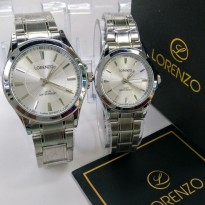 Lorenzo Sepasang Rantai Ori Anti Air Silver Cover White