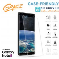Grace Samsung Galaxy Note 8 / Note8 / 6.3' Tempered Glass - 3D Curved Full Cover Case Friendly