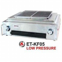 GETRA ET-KF05 STAINLESS STEEL MESIN PEMANGGANG, ROASTER MACHINE, BBQ BURNER, BARBEQUE, SATE-SILVER