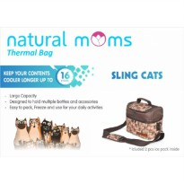 Natural Moms Cooler Bag Sling Cats -Thermal Bag