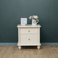 Angela Night Stand (Ivory) - Meja Nakas
