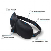 3D Sleep Mask Eye Mask Travel Soft Sleeping Googles Kacamata Tidur