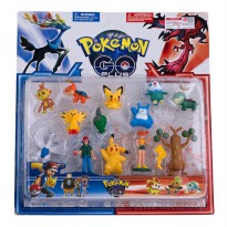 Mainan Pokemon Go Plus Segi 3+ 14 Pcs - Mainan Action Figure Koleksi Pokemon