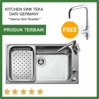 TEKA sale Kitchen sink Bahia 1B plus Gratis Kran POLO HIGH SPOUT TEKA