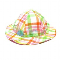 L'il Dot Sun Hat Plaid Size 48cm Colorful