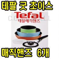 Good Choice of French Tefal Cookware Set Magic Hands 6p stir fry pan with glass lid pan handle removable handle