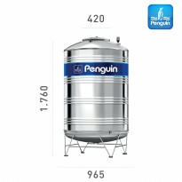 Tangki Air Penguin TBS+K 1.000 Liter Stainless Stell