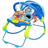 Bouncer Bayi / Baby Bouncer SUGAR BABY 10 IN 1 PREMIUM BLUE (CIRCUS CARNIVAL)