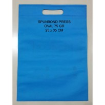 [LUSIN] Tas Kain Press Spunbond 75 gsm Oval Polos Uk 25 x 35 cm