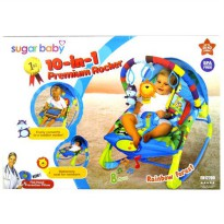 Bouncer Bayi / Baby Bouncer SUGAR BABY 10 IN 1 PREMIUM BLUE (RAINBOW FOREST)