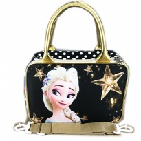 Tas Travel Kanvas MINI Frozen Fever Elsa - Black Gold
